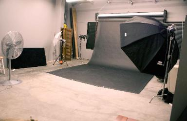 Studio at SouthLands camera room with Natural Light, Strobes & 15' ceilings